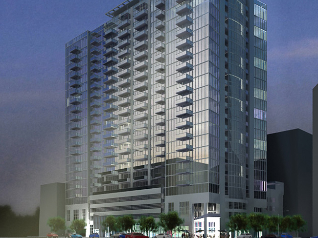 Rendering of the 8th+Hope apartment complex