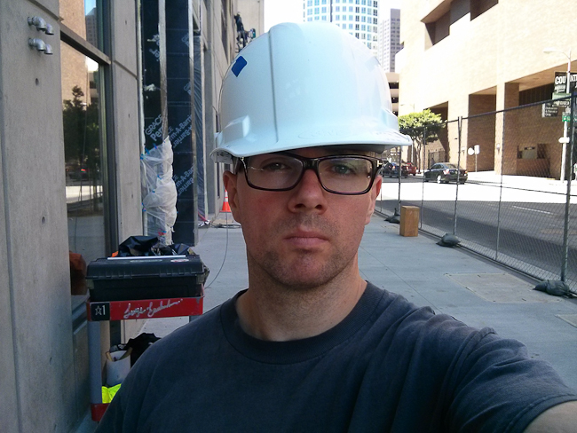 Self portrait on the job site