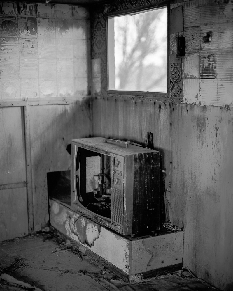 Abandoned television