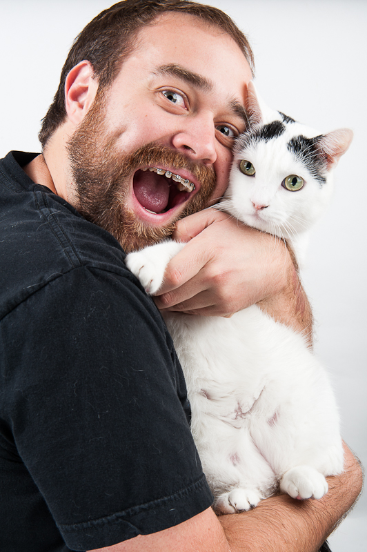Gabe and his cat